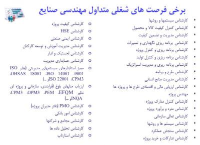 ثبت نام بدون كنكور در رشته مهندسي صنايع در بهمن ٩٧ در گروه  استخدام گوناگون