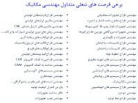 ثبت نام بدون كنكور مهندسي مکانیک در بهمن ٩٧